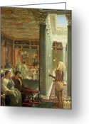 Trick Painting Greeting Cards - The Juggler Greeting Card by Sir Lawrence Alma-Tadema