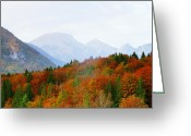 Lake Bohinj Greeting Cards - The Julian Alps in Autumn at Lake Bohinj Greeting Card by Greg Matchick