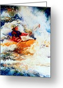 Children Book Illustrator Greeting Cards - The Kayak Racer 19 Greeting Card by Hanne Lore Koehler