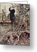 1906  By Rackham Greeting Cards - The Kensington Gardens are in London where the King lives Greeting Card by Arthur Rackham
