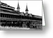 Pen And Ink Drawing Drawings Greeting Cards - The Kentucky Derby Greeting Card by Bruce Kay