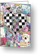Ephemera Collage Greeting Cards - The Key   Greeting Card by Anahi DeCanio
