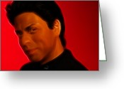 Superstar Photo Greeting Cards - The King of Bollywood - Shahrukh Khan - Shah Rukh Khan - Baadshah of Bollywood - King Khan -  Greeting Card by Lee Dos Santos