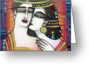 Albena Greeting Cards - The Kiss Greeting Card by Albena
