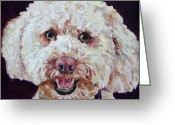 Fine Art - Animals Greeting Cards - The Labradoodle Greeting Card by Enzie Shahmiri