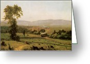 Inness Greeting Cards - The Lackawanna Valley Greeting Card by George Inness