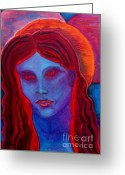 Carolinestreet Greeting Cards - The Lady is a Vamp Greeting Card by Caroline Street