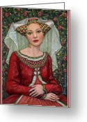 Portrait Reliefs Greeting Cards - The Lady Mae   Bas Relief Miniature Greeting Card by Jane Bucci