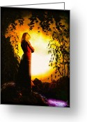 Thoughtful Greeting Cards - The Lady of Shalott Greeting Card by Bob Orsillo