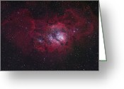 Interstellar Clouds Photo Greeting Cards - The Lagoon Nebula Greeting Card by Robert Gendler