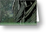 Abandoned Houses Digital Art Greeting Cards - The Lake House Greeting Card by Leslie Revels Andrews