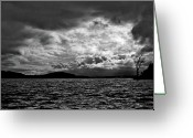 Ozarks Greeting Cards - The Lake Greeting Card by John K Sampson