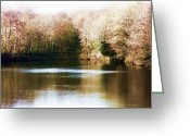 Autumnal Digital Art Greeting Cards - The Lake Greeting Card by Sharon Lisa Clarke