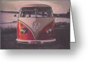 Campervan Greeting Cards - The lakes Greeting Card by Sharon Poulton