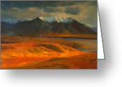 National Greeting Cards - The Land Beyond the Red Tundra Greeting Card by Douglas Girard