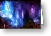 Glow Greeting Cards - The Language of Dreams Greeting Card by Philip Straub