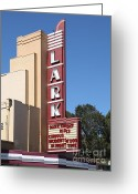 San Rafael Greeting Cards - The Lark Theater in Larkspur California - 5D18482 Greeting Card by Wingsdomain Art and Photography
