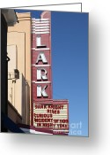 San Rafael Greeting Cards - The Lark Theater in Larkspur California - 5D18490 Greeting Card by Wingsdomain Art and Photography