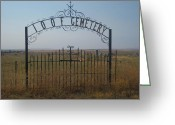 Cemetery Gate Greeting Cards - The Last Gates Of Moro Greeting Card by Cheryl Perin
