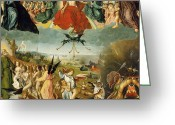 The Last Judgement Greeting Cards - The Last Judgement Greeting Card by Jan II Provost