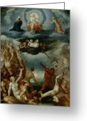 Cherubs Greeting Cards - The Last Judgement  Greeting Card by Martin Pepyn