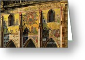 Hell Greeting Cards - The Last Judgment - St Vitus Cathedral Prague Greeting Card by Christine Till