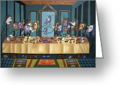 Cubist Greeting Cards - The Last Supper Greeting Card by Anthony Falbo