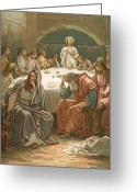 Disciples Greeting Cards - The Last Supper Greeting Card by John Lawson