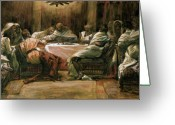 Illustration Greeting Cards - The Last Supper Greeting Card by Tissot