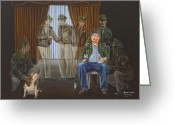 Beagle Greeting Cards - The Last Survivor Greeting Card by Bob Wilson