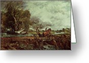 Jumping Greeting Cards - The Leaping Horse Greeting Card by John Constable
