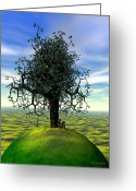 Kites Digital Art Greeting Cards - The Learning Tree Greeting Card by Walter Neal