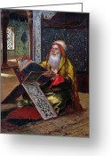 Koran Greeting Cards - The Lectern Greeting Card by Ernst Rudolphe