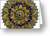 Saw Blades Greeting Cards - The Lena-meria Greeting Card by Jessica Sornson
