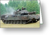 Battle Tanks Greeting Cards - The Leopard 1a5 Main Battle Tank Greeting Card by Luc De Jaeger
