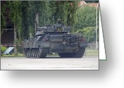 Belgian Army Greeting Cards - The Leopard 1a5 Of The Belgian Army Greeting Card by Luc De Jaeger