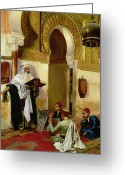 Koran Greeting Cards - The Lesson Greeting Card by Rudolphe Ernst