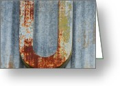 High Resolution Greeting Cards - The Letter U Greeting Card by Nikki Marie Smith