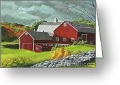 Central Painting Greeting Cards - The Light After The Storm Greeting Card by Charlotte Blanchard