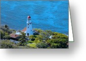 Diamond Head Greeting Cards - The Light of Diamond Head Greeting Card by H and L Nieborg