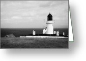 Most Greeting Cards - The Lighthouse At Dunnet Head Most Northerly Point Of Mainland Britain Scotland Uk Greeting Card by Joe Fox