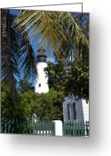 Key West Island Greeting Cards - The Lighthouse in Key West II Greeting Card by Susanne Van Hulst