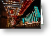 Fremont Street Greeting Cards - The lights are on in Las Vegas Greeting Card by Susanne Van Hulst