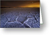 Desolate Landscapes Greeting Cards - The Lights Of Salt Lake City Brushes Greeting Card by Jim Richardson