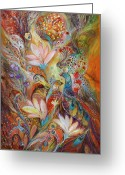 Elena Kotliarker Greeting Cards - The lilies and bell flowers Greeting Card by Elena Kotliarker