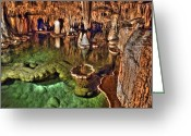 Cavern Greeting Cards - The Lily Pond Greeting Card by William Fields