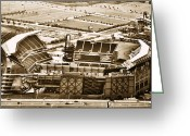 Lincoln Field Greeting Cards - The Linc - Aerial View Greeting Card by Bill Cannon