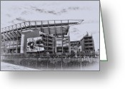 Linc Digital Art Greeting Cards - The Linc - Philadelphia Eagles Greeting Card by Bill Cannon