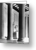 Lincoln Greeting Cards - The Lincoln Memorial Greeting Card by War Is Hell Store