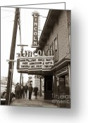 Wyoming Greeting Cards - The Lincoln Theatre 318 Main St Dupont PA 1950s Greeting Card by Arthur Miller